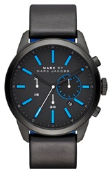 Marc By Marc Jacobs 'Dillon' Chronograph Bracelet Watch 44Mm Black Grey Blue