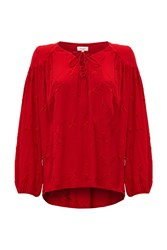Ghost Vivian Blouse Poinsettia Red
