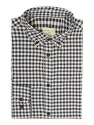 Selected Gingham Oxford Shirt Navy