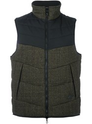Rag And Bone Zip Up Gilet Green