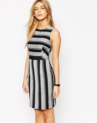Oasis Stripe Pencil Dress Multi