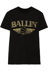 Brian Lichtenberg Basketballin Glitter Printed Cotton T Shirt