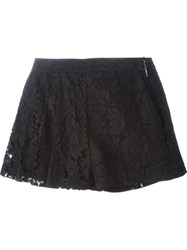 Msgm Floral Lace Shorts Black