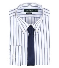 Lauren Ralph Lauren Classic Button Down With Pocket Dress Shirt White Blue Navy Men's Long Sleeve Button Up Multi