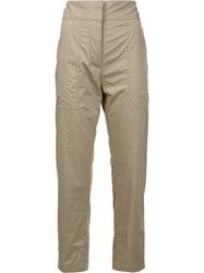 Adam By Adam Lippes Patch Pocket Cropped Trousers Nude Neutrals