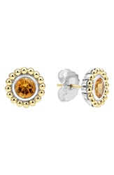 Lagos Stone Stud Earrings Citrine