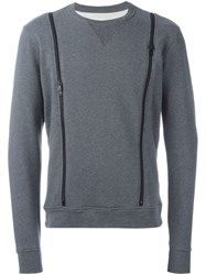Maison Martin Margiela Zip Detail Sweatshirt Grey
