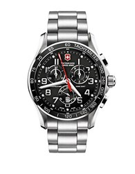 Victorinox Mens Chronograph Classic Stainless Steel Watch Silver