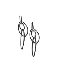 Stephen Webster Pave Black Diamond Thorn Link Earrings