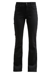 M A C Mac Dream Straight Leg Jeans Black Black Denim