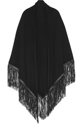 Finds Barbajada Leather Fringed Cashmere Shawl