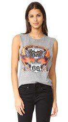 Prince Peter Route 66 Muscle Tee Heather Grey