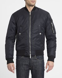 Dsquared Navy Patch Bomber Jacket Blue