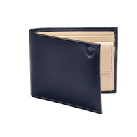 Aspinal Of London Billfold Coin Wallet Navy And White