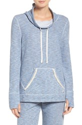 Lucky Brand Women's Lounge Hoodie Washed Denim Blue