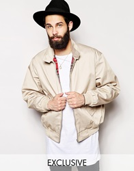 Reclaimed Vintage Harrington Jacket Stone