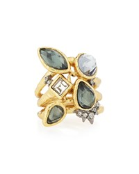 Shake Faceted Pyrite Ring Alexis Bittar Gold