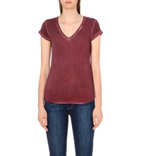 Paige Charlie Jersey T Shirt Vintage Deep Syrah
