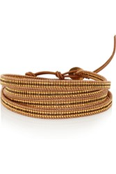 Chan Luu Leather Bead Wrap Bracelet Brown