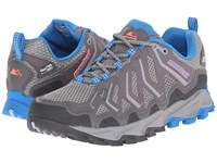 Montrail Trans Alps Outdry City Grey Static Blue Women's Shoes Gray