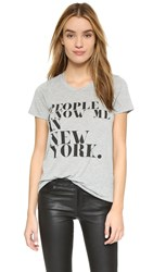 Rebecca Minkoff People Know Me Tee Heather Grey