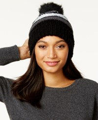 Inc International Concepts Chunky Stitch Beanie Only At Macy's Black