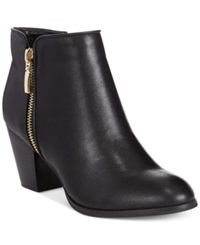 Style And Co. Jamila Zip Booties Women's Shoes Black