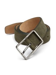 Tod's Suede Buckle Belt Olive