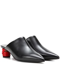Balenciaga Bistrot Leather Mules Black