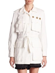 Figue Embellished Safari Jacket Off White