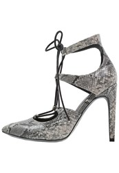 Evenandodd Laceup Heels Taupe