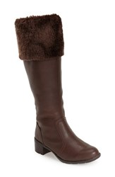 Women's Softspots 'Campbell' Tall Boot Dark Brown Leather
