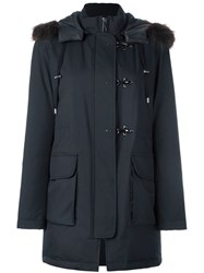 Fay Hooded Padded Jacket Black