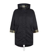 Barbour Bedale Wax Hooded Parka Female Navy