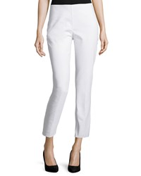 Michael Kors Collection Side Zip Cropped Pants Optic White Women's Size 8