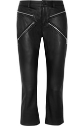 Alexander Wang Cropped Leather Skinny Pants Black