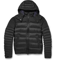 Burberry Hooded Quilted Shell Down Coat Black