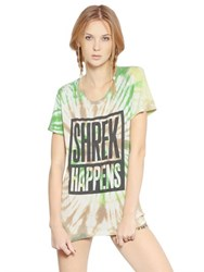 Jeremy Scott Shrek Happens Tie Dyed Cotton T Shirt