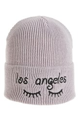 Women's Bp. Embroidered Beanie Grey Charcoal