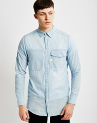 G Star G Star Landoh Long Shirt Long Sleeve Blue