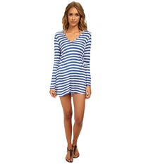 Ella Moss Cabana Hoodie Cover Up Deep Blue Women's Swimwear