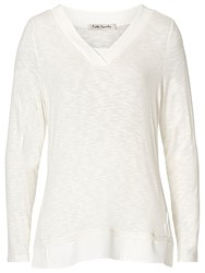 Betty Barclay V Neck Long Sleeved Top Off White