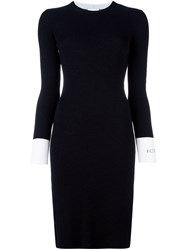 Iceberg Ribbed Fitted Dress Black