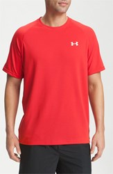 Men's Under Armour 'Ua Tech' Loose Fit Short Sleeve T Shirt Red