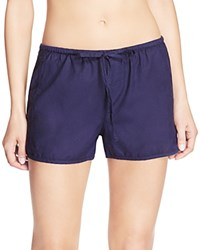Yummie Tummie By Heather Thomson Cotton Lounge Shorts Evening Blue