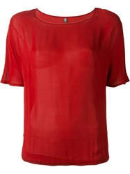 Eleventy Loose T Shirt Red