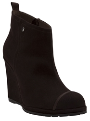 Chuckies New York Round Toe Wedge Bootie Brown