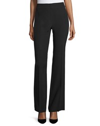 Escada Mid Rise Flare Leg Pants Black
