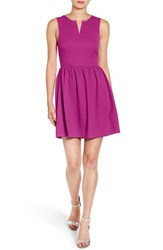 Everly Women's 'Rowan' V Neck Skater Dress Viola