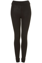 Topshop High Waist Extra Long Leggings Black